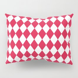 Rhombus (Crimson/White) Pillow Sham