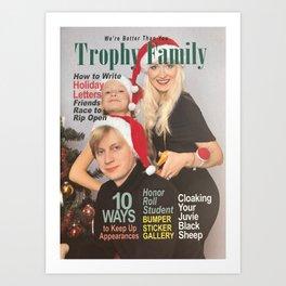 Trophy Family Magazine Parody Cover Art Print