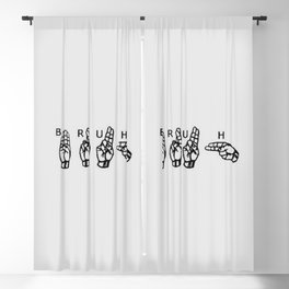 Sign Language Blackout Curtain