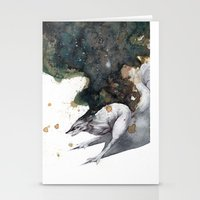 runner Stationery Cards featuring Night Runner by Rubis Firenos