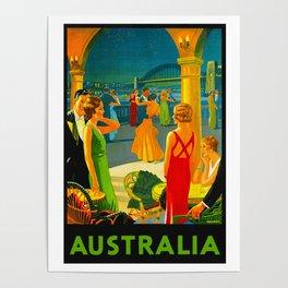 Vintage Sydney Australia Travel Poster