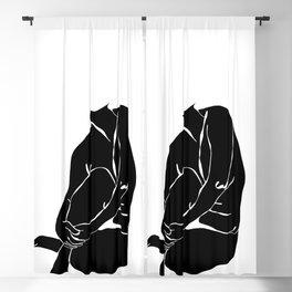 Nude figure illustration - Nina Silhouette Blackout Curtain