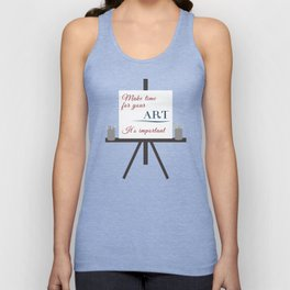 Make Time For Art (Colorful Calligraphy) Unisex Tank Top