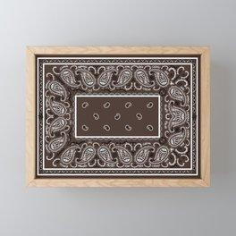 Classic Coffee Brown Bandana Framed Mini Art Print