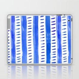 Watercolor lines - blue Laptop & iPad Skin