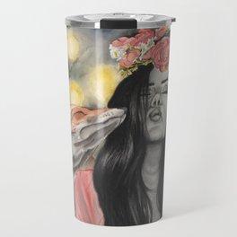 Fox & Flowers Travel Mug