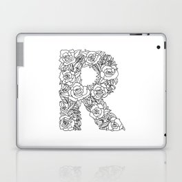 Floral Type - Letter R Laptop & iPad Skin