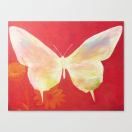 Pink Butterfly Canvas Print