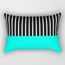 Half and Turq Rectangular Pillow