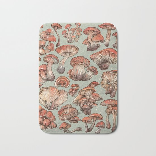 A Series of Mushrooms Bath Mat