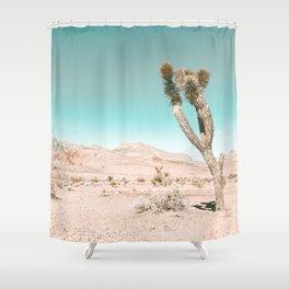 Vintage Desert Scape // Cactus Nature Summer Sun Landscape Photography Shower Curtain