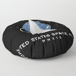Space Force Flag Floor Pillow