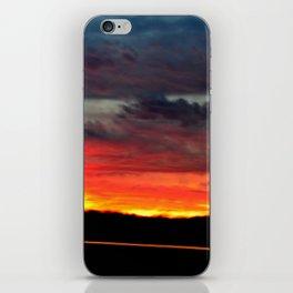 Night Lights Moving Sunset 21 iPhone Skin