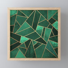 Emerald and Copper Framed Mini Art Print