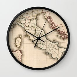 Vintage Map of Italy (1815) Wall Clock
