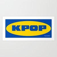 kpop Art Prints featuring Blue KPOP by Factorialist