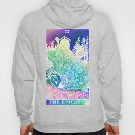 The Empress- A Beautiful Watercolour Inspired Soft Tarot Print Hoody