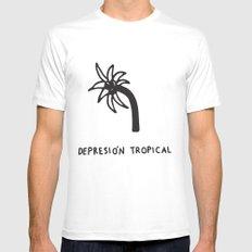Depresión Tropical Mens Fitted Tee MEDIUM White