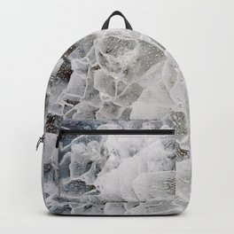 Gray-blue ice pattern. Backpack