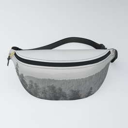 Lookout Ridge - Black and White Mountain Nature Photography Fanny Pack