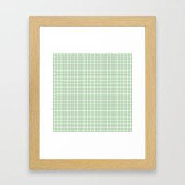Summer Green Plaid Framed Art Print