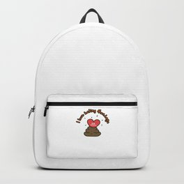 Hand Drawn Illustrations I love Hating Mondays Poop Gift Backpack