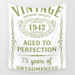 Green-Vintage-Limited-1942-Edition---75th-Birthday-Gift Wall Tapestry