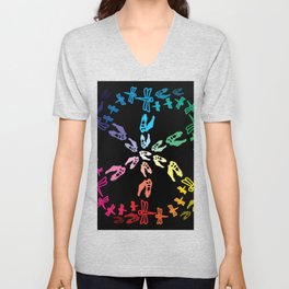 Dinos and Dragonflies Unisex V-Neck