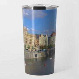 Sunny Day in Prague - View from Legion Bridge Travel Mug