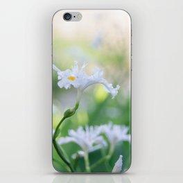 White Iris 3 iPhone Skin
