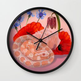 Snek and Poppies Wall Clock