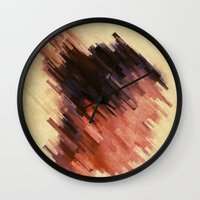 woman Wall Clocks featuring Woman by SensualPatterns