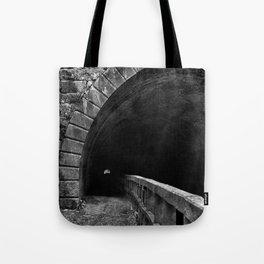 Paw Paw Grunge Tunnel - Black & White Tote Bag