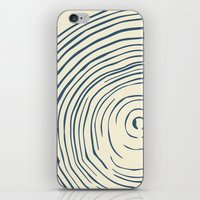 tree rings iPhone & iPod Skins featuring Tree Rings by Chase