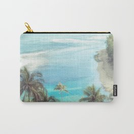 Dreamy Palm Beach Landscape Carry-All Pouch