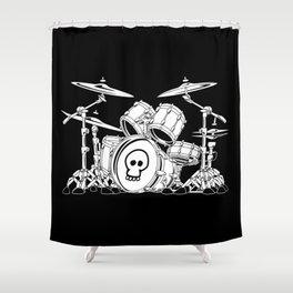 Drum Set Cartoon Shower Curtain