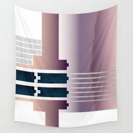 Minimalist Gradient Geometric Interlocking Abstract Structures #buyart #homedecor Wall Tapestry
