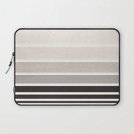 Grey Minimalist Watercolor Mid Century Staggered Stripes Rothko Color Block Geometric Art Laptop Sleeve