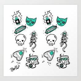 Witch Kit Art Print