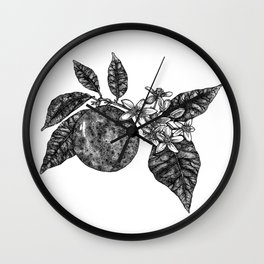 Orange Blossom Wall Clock