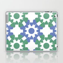 abstract background with flower and hearts Laptop & iPad Skin