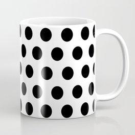 Polkadots (Black & White Pattern) Coffee Mug