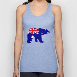 Australian Flag - Polar Bear Unisex Tank Top