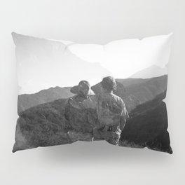 """Love on the Horizon"" Holga black and white double exposure Pillow Sham"