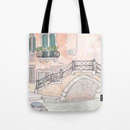 Venice Ponte Storto Bridge  Tote Bag