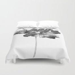 Flower, black and white Duvet Cover