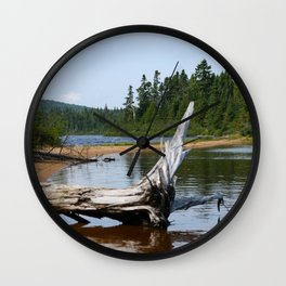 Peacefull Lake in Canada Wall Clock