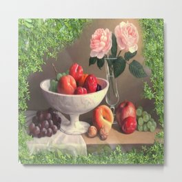 A Bowl Of Spring Fruit Delight Metal Print