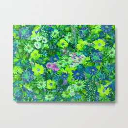 Spring flowers (solarize style) Metal Print