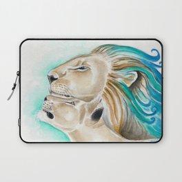 Two Lions Watercolor Art Laptop Sleeve